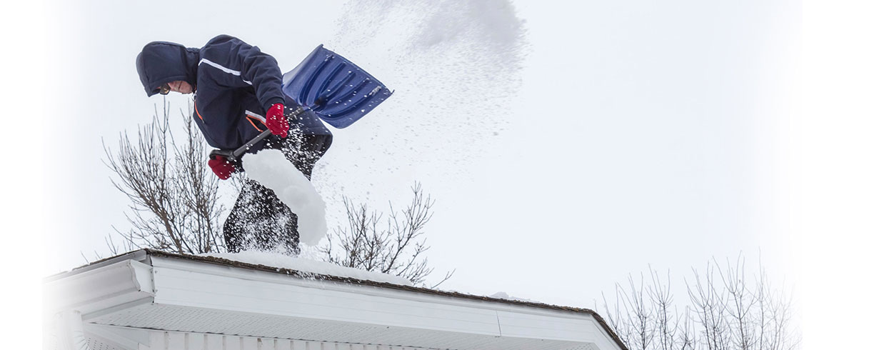 Safety tips on clearing snow from your roof